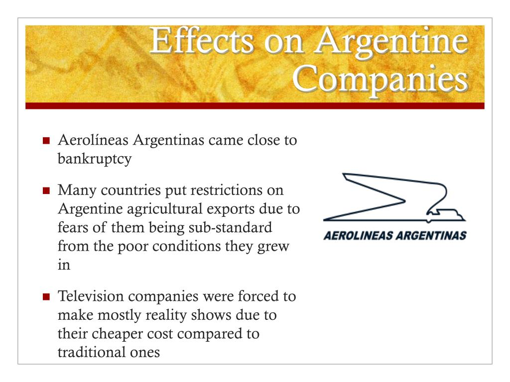 Effects on Argentine Companies