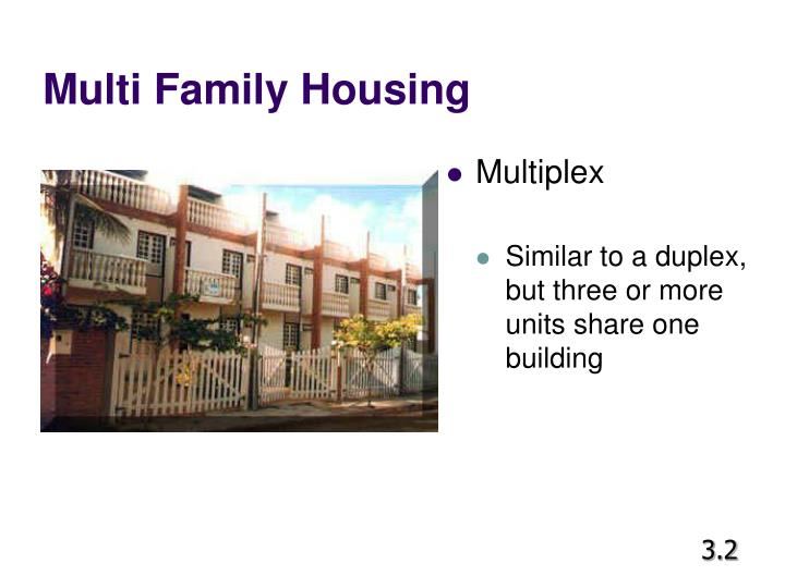 Ppt facs unit 3 powerpoint presentation id 1050984 for Multi family living