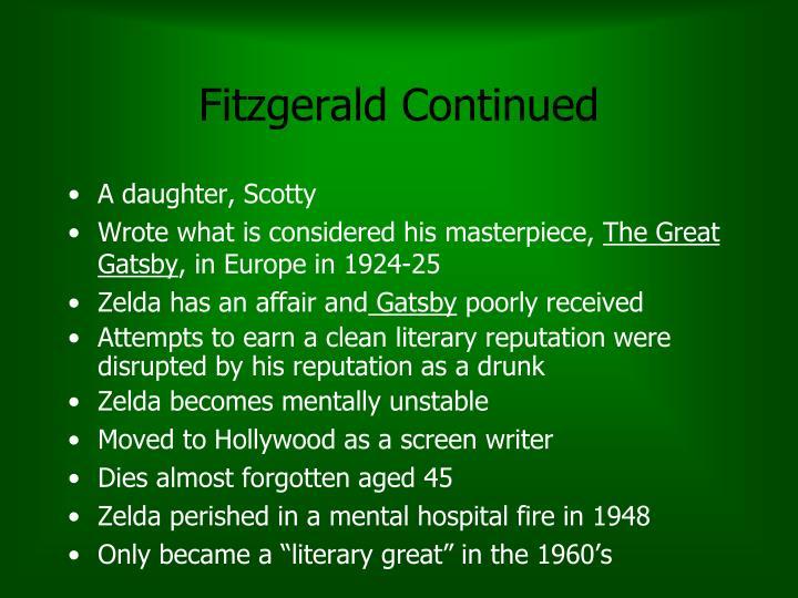 Fitzgerald Continued