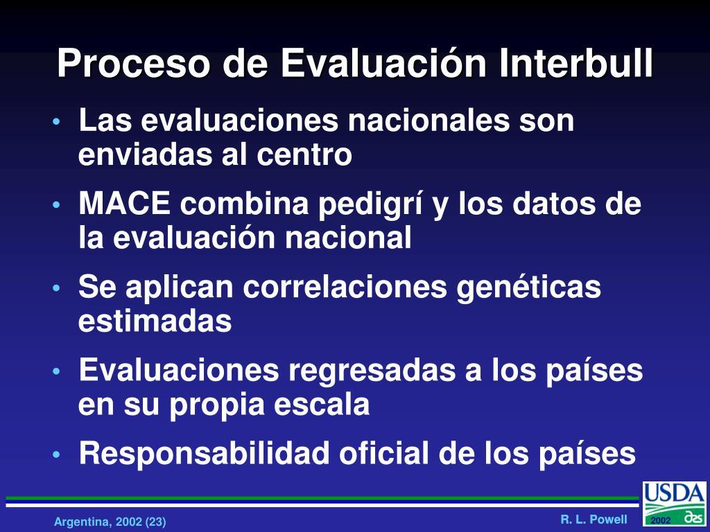Proceso de Evaluación Interbull