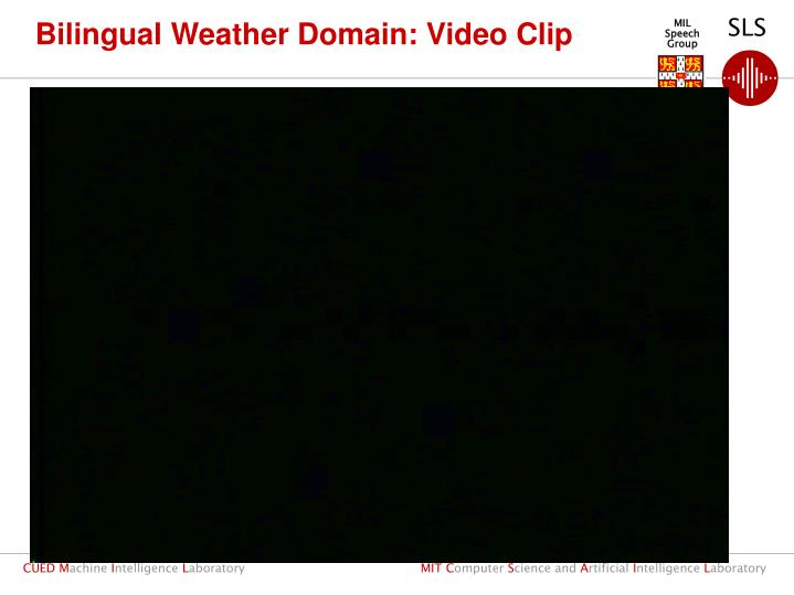 Bilingual Weather Domain: Video Clip