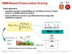 hmm based pronunciation scoring