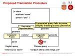proposed translation procedure