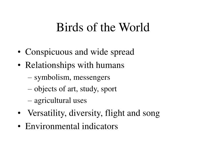 Birds of the world