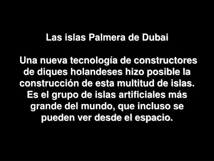 Las islas Palmera de Dubai