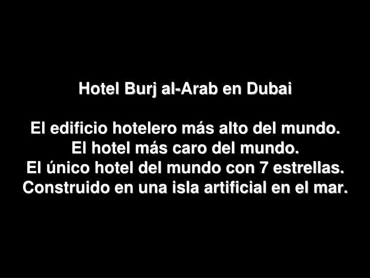 Hotel Burj al-Arab en Dubai