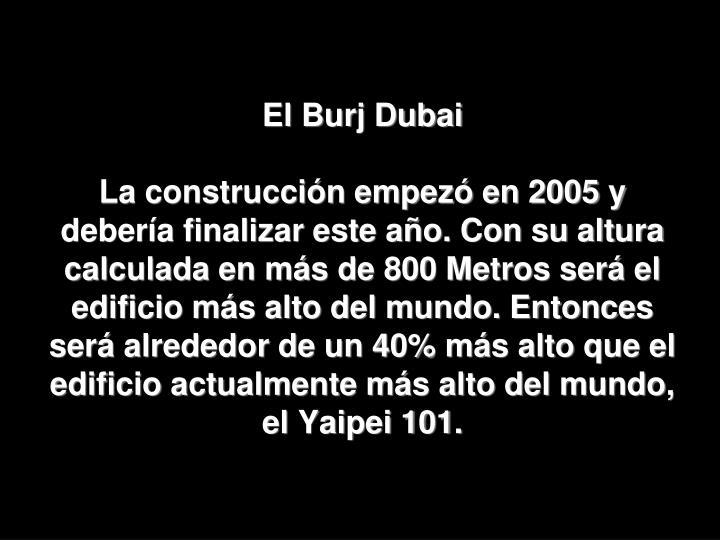 El Burj Dubai