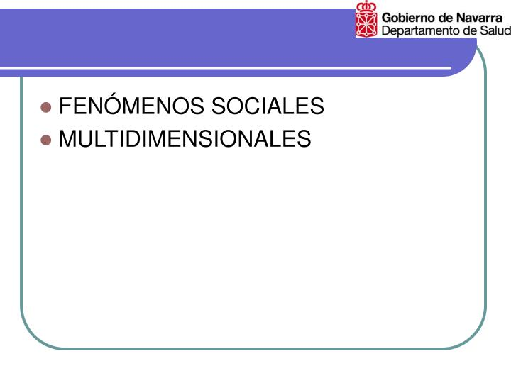 FENÓMENOS SOCIALES