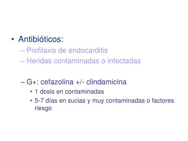 Antibiticos: