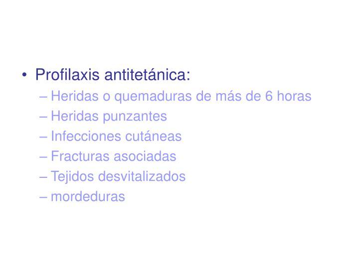 Profilaxis antitetnica: