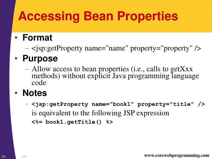 Accessing Bean Properties