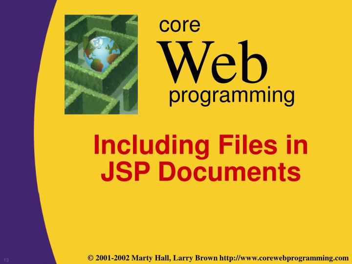 Including Files in JSP Documents