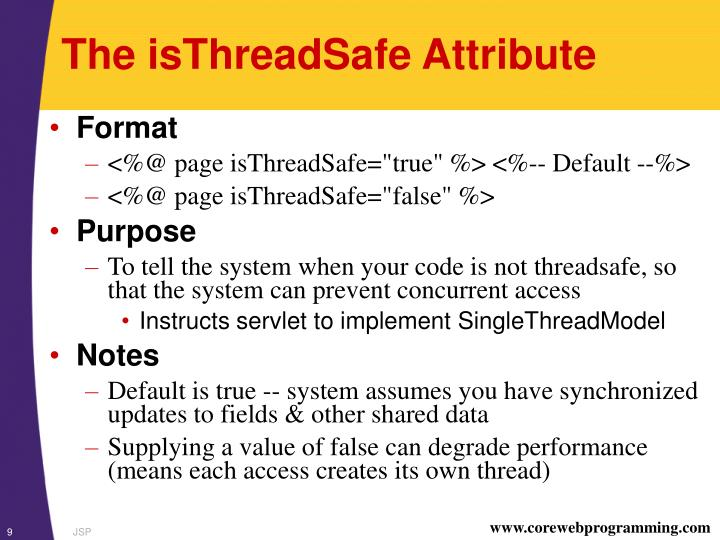 The isThreadSafe Attribute