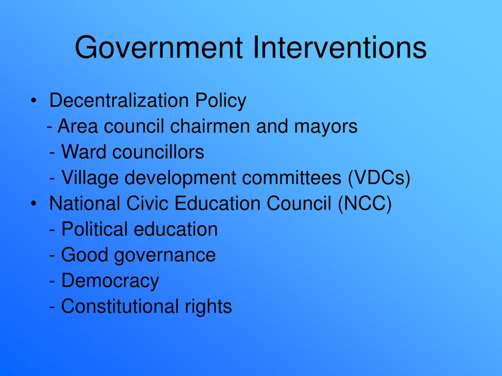 Government Interventions
