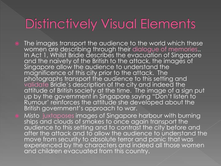 disticivley visual Free sample literature essay on shoe horn sonata distinctive visual distinctively visual texts use a variety of techniques to convey the experiences during the war.
