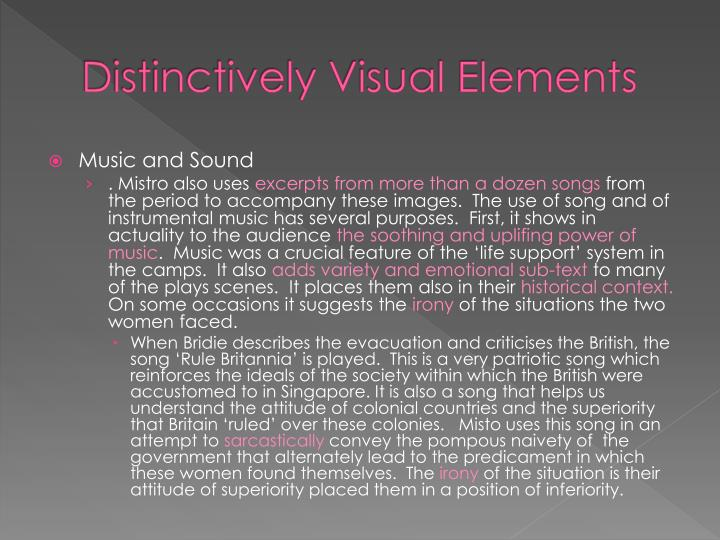 distinctively visual images Distinctive images offer a variety of perspectives on the world  used to  effectively evoke the distinctively visual and our experience through language ( click.