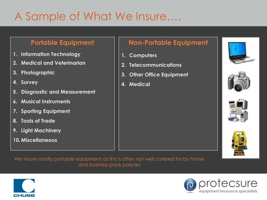 A Sample of What We Insure….
