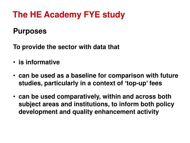 The HE Academy FYE study