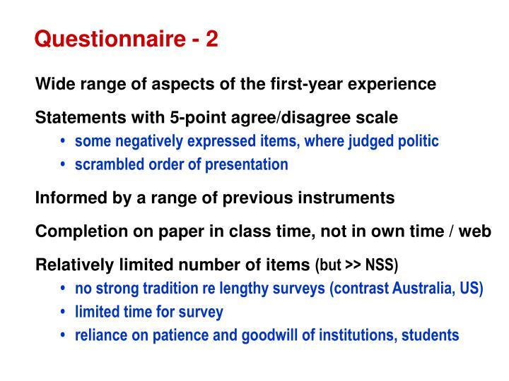 Questionnaire - 2