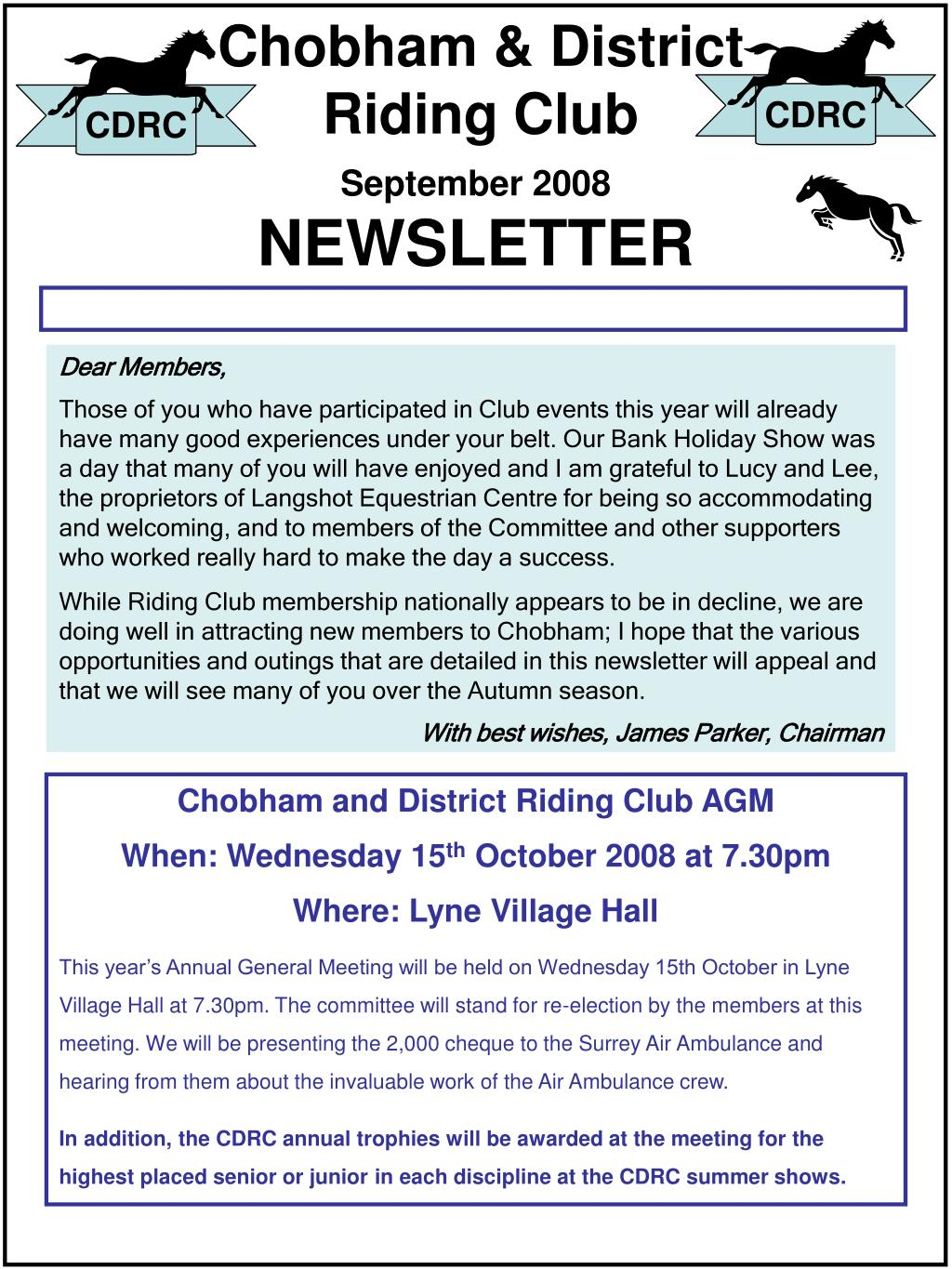 chobham district riding club