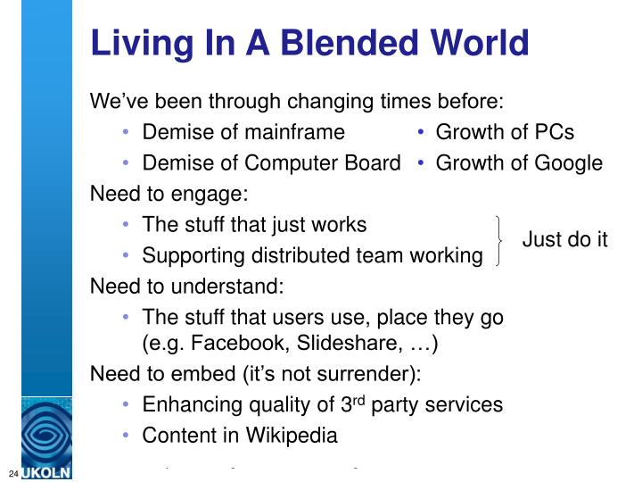 Living In A Blended World