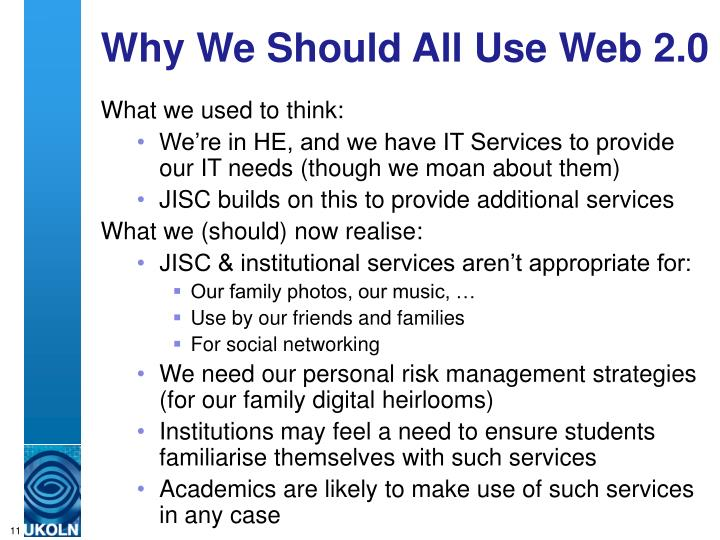Why We Should All Use Web 2.0
