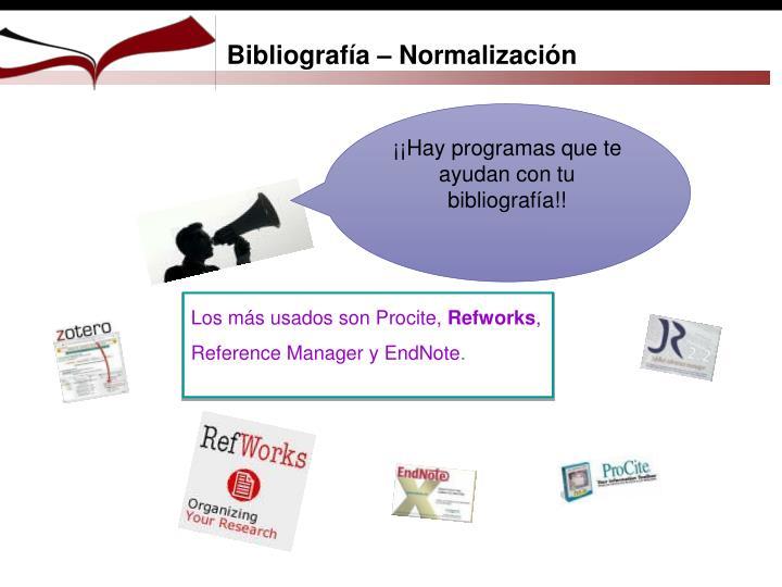 Bibliografía – Normalización