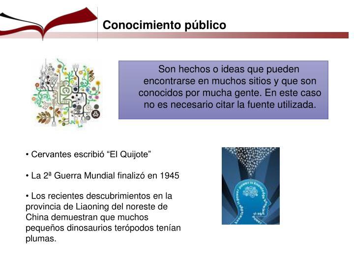 Conocimiento público