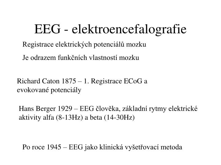 EEG - elektroencefalografie