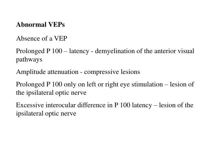Abnormal VEPs