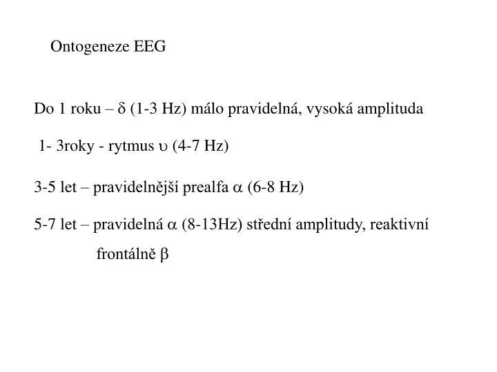 Ontogeneze EEG