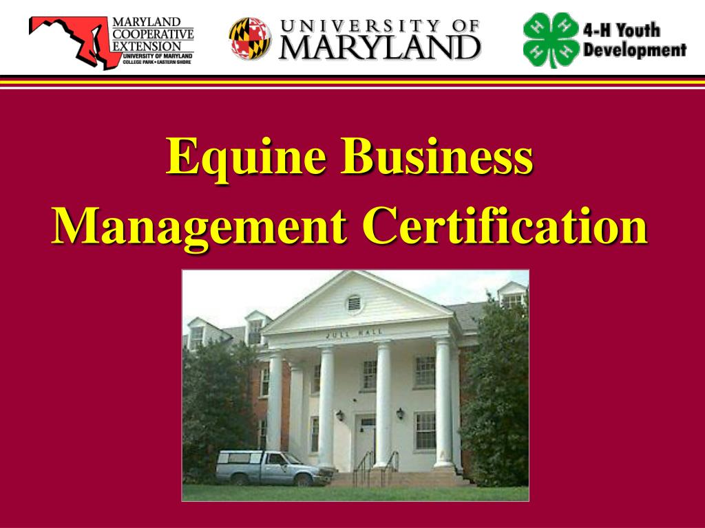 Equine Business Management Certification