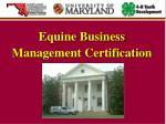 equine business management certification