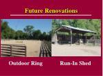 future renovations
