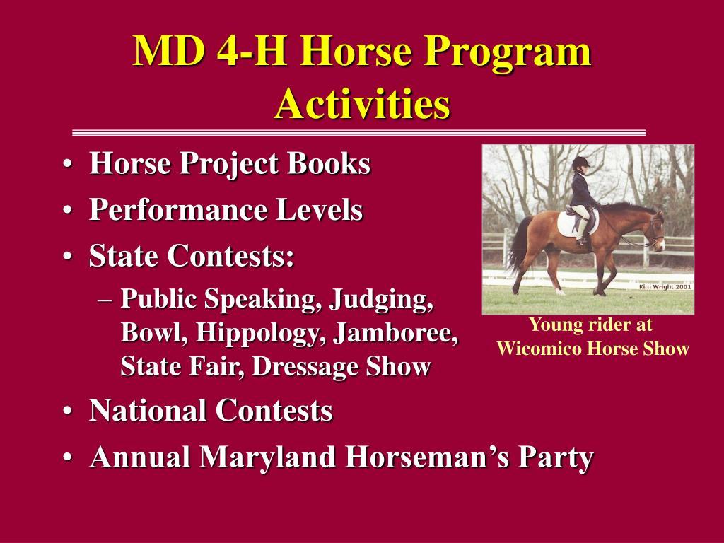 MD 4-H Horse Program