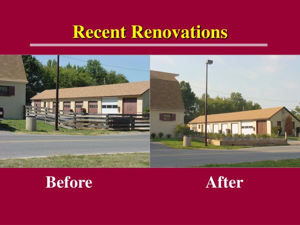 Recent Renovations
