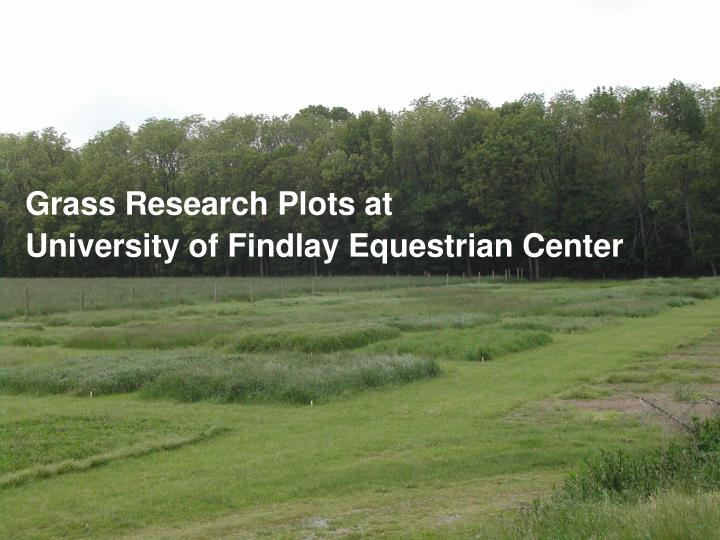 Grass Research Plots at