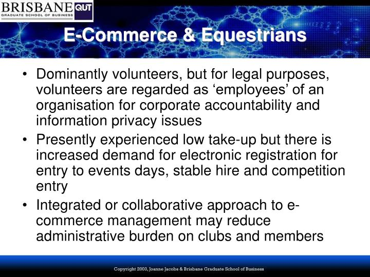 E commerce equestrians