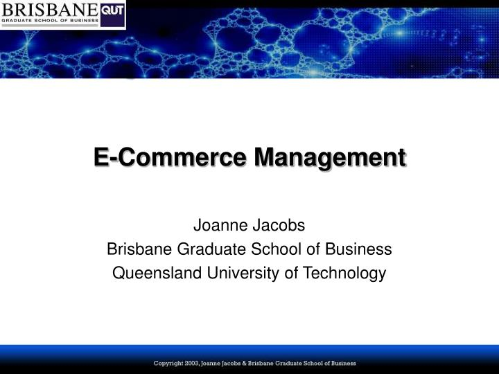 E commerce management