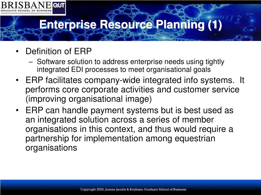 Enterprise Resource Planning (1)