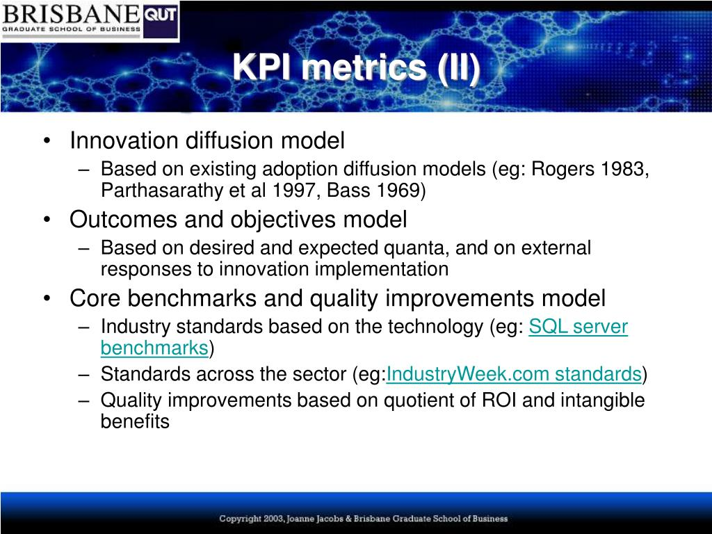 KPI metrics (II)