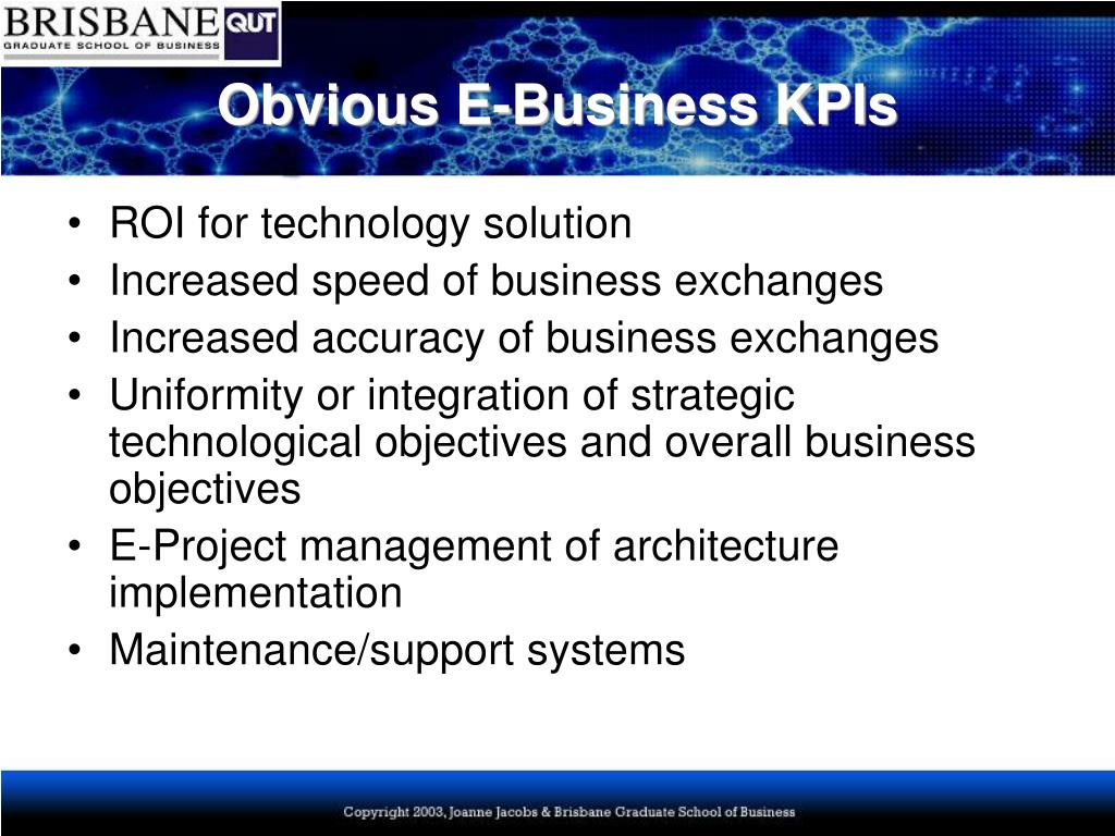 Obvious E-Business KPIs