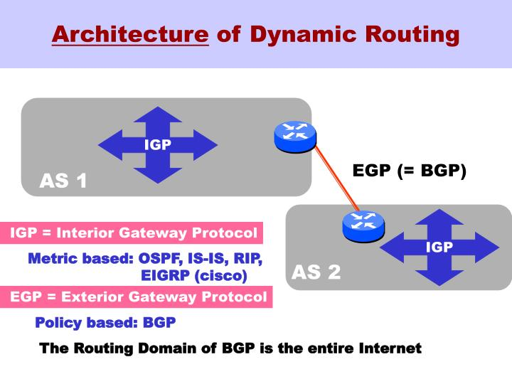 Architecture of dynamic routing