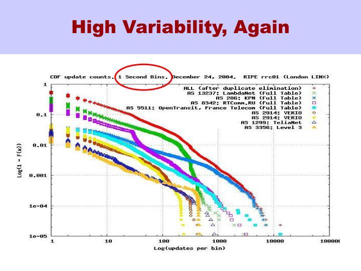 High Variability, Again