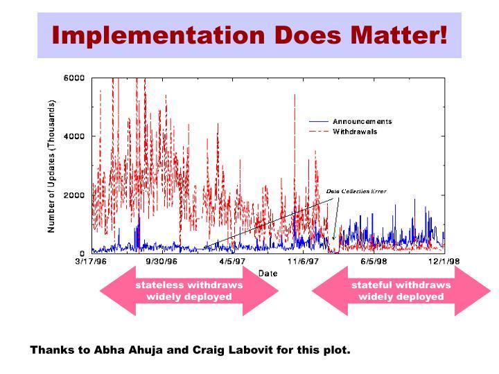 Implementation Does Matter!