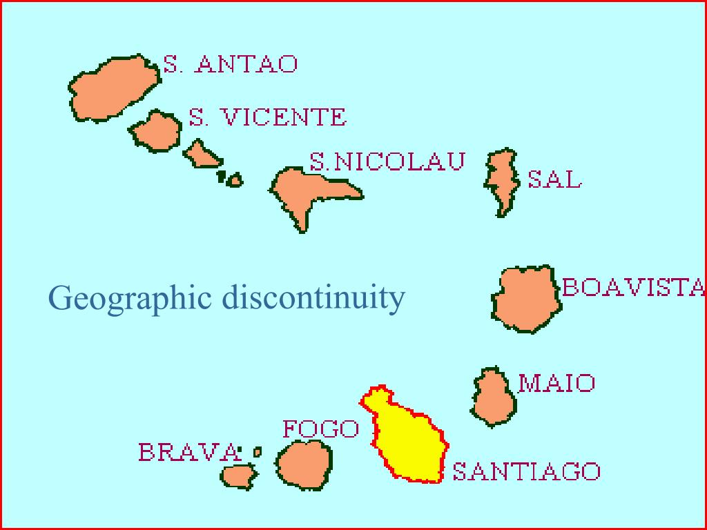 Geographic discontinuity
