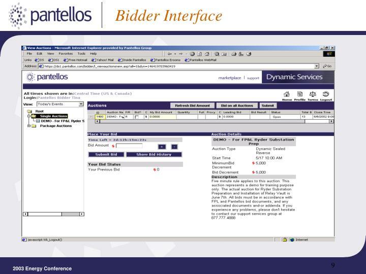 Bidder Interface