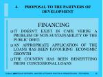 proposal to the partners of development36