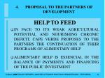 proposal to the partners of development42