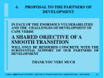 proposal to the partners of development44
